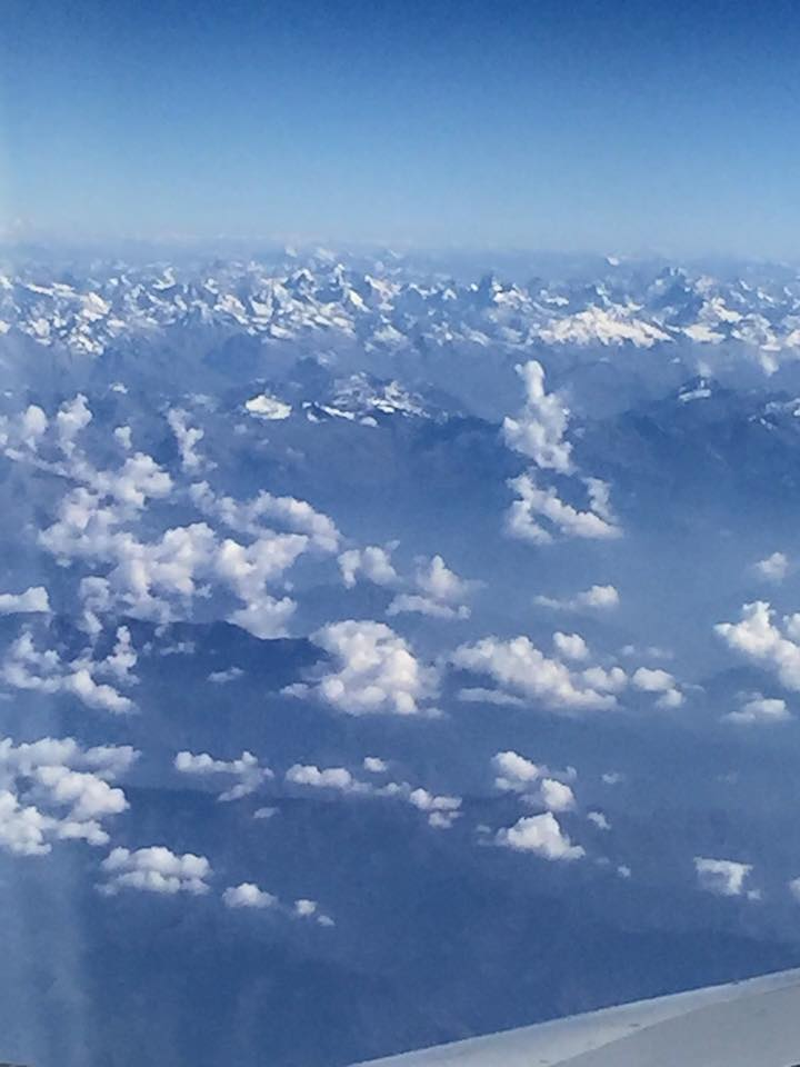 Snow Mountains in Cloud